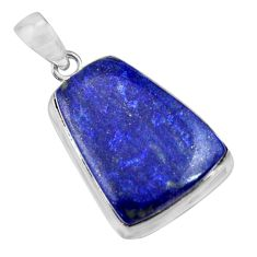 19.90cts natural blue lapis lazuli 925 sterling silver pendant jewelry r36325