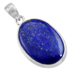 15.65cts natural blue lapis lazuli 925 sterling silver pendant jewelry r36334