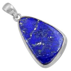 17.35cts natural blue lapis lazuli 925 sterling silver pendant jewelry r36335