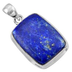 17.78cts natural blue lapis lazuli 925 sterling silver pendant jewelry r36339