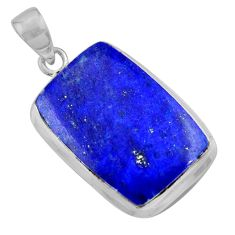 19.30cts natural blue lapis lazuli 925 sterling silver pendant jewelry r36346