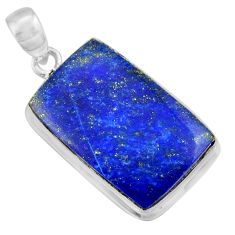 18.60cts natural blue lapis lazuli 925 sterling silver pendant jewelry r36349
