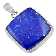 24.00cts natural blue lapis lazuli 925 sterling silver pendant jewelry r36352