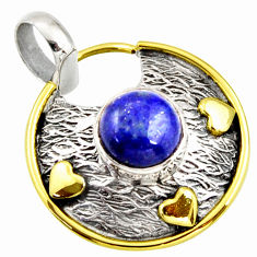 4.93cts natural blue lapis lazuli 925 sterling silver pendant jewelry r37152