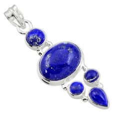 15.54cts natural blue lapis lazuli 925 sterling silver pendant jewelry r43159