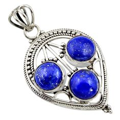 9.73cts natural blue lapis lazuli 925 sterling silver pendant jewelry r44935