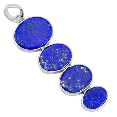 8.87cts natural blue lapis lazuli 925 sterling silver pendant jewelry r87822