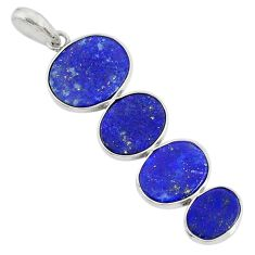 9.40cts natural blue lapis lazuli 925 sterling silver pendant jewelry r87823