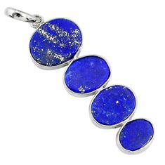 9.45cts natural blue lapis lazuli 925 sterling silver pendant jewelry r87824