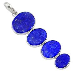 9.40cts natural blue lapis lazuli 925 sterling silver pendant jewelry r87825