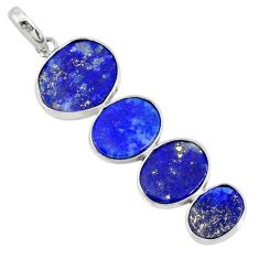 8.82cts natural blue lapis lazuli 925 sterling silver pendant jewelry r87826