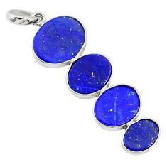 10.09cts natural blue lapis lazuli 925 sterling silver pendant jewelry r87827