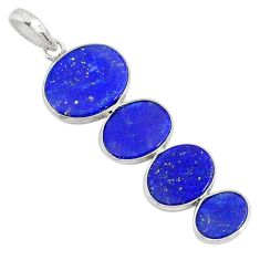 9.40cts natural blue lapis lazuli 925 sterling silver pendant jewelry r87828