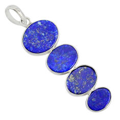 8.79cts natural blue lapis lazuli 925 sterling silver pendant jewelry r87829