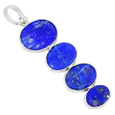 8.32cts natural blue lapis lazuli 925 sterling silver pendant jewelry r87831