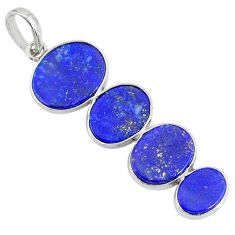 9.42cts natural blue lapis lazuli 925 sterling silver pendant jewelry r87832
