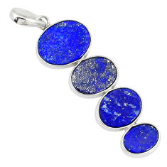 9.40cts natural blue lapis lazuli 925 sterling silver pendant jewelry r87833