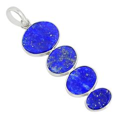 9.54cts natural blue lapis lazuli 925 sterling silver pendant jewelry r87834