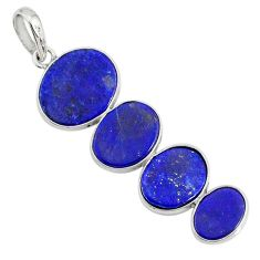 8.79cts natural blue lapis lazuli 925 sterling silver pendant jewelry r87836