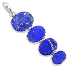 8.82cts natural blue lapis lazuli 925 sterling silver pendant jewelry r87837