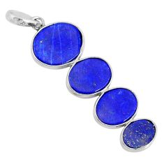 8.96cts natural blue lapis lazuli 925 sterling silver pendant jewelry r87839