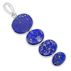 8.76cts natural blue lapis lazuli 925 sterling silver pendant jewelry r87840