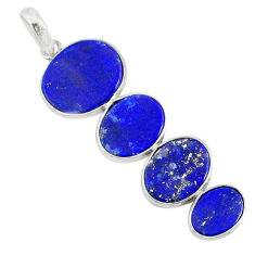 9.45cts natural blue lapis lazuli 925 sterling silver pendant jewelry r87932