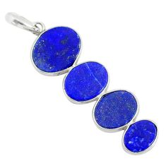 8.87cts natural blue lapis lazuli 925 sterling silver pendant jewelry r87933