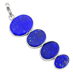 9.40cts natural blue lapis lazuli 925 sterling silver pendant jewelry r87934