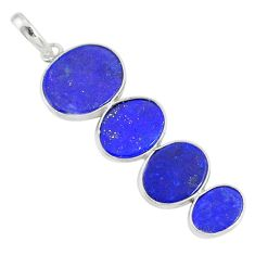 8.87cts natural blue lapis lazuli 925 sterling silver pendant jewelry r87935