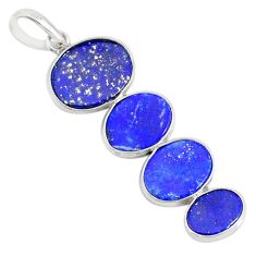 8.82cts natural blue lapis lazuli 925 sterling silver pendant jewelry r87936