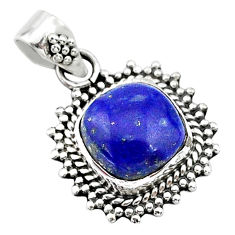 5.14cts natural blue lapis lazuli 925 sterling silver pendant jewelry t14506