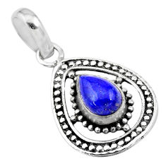 2.30cts natural blue lapis lazuli 925 sterling silver pendant jewelry t28894