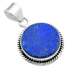 11.55cts natural blue lapis lazuli 925 sterling silver pendant jewelry t53907