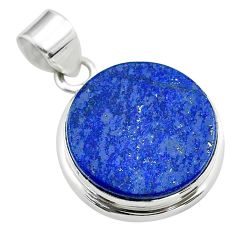16.70cts natural blue lapis lazuli 925 sterling silver pendant jewelry t53908
