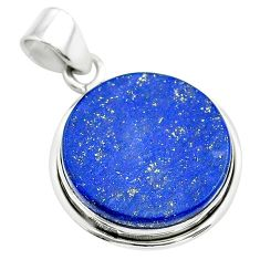 16.70cts natural blue lapis lazuli 925 sterling silver pendant jewelry t53911