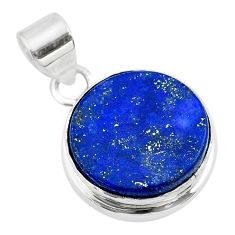 13.70cts natural blue lapis lazuli 925 sterling silver pendant jewelry t53941