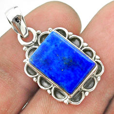 6.27cts natural blue lapis lazuli 925 sterling silver pendant jewelry t56028