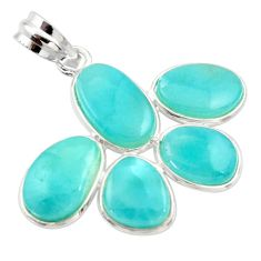15.93cts natural blue larimar 925 sterling silver pendant jewelry r34921