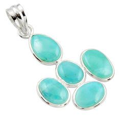 11.93cts natural blue larimar 925 sterling silver pendant jewelry r34932