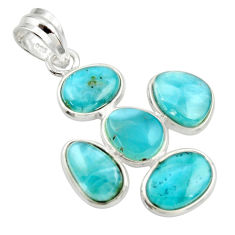 12.52cts natural blue larimar 925 sterling silver pendant jewelry r34938