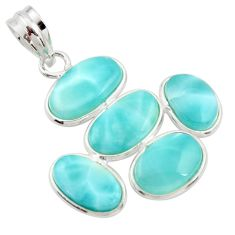 14.73cts natural blue larimar 925 sterling silver pendant jewelry r34958
