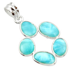 10.67cts natural blue larimar 925 sterling silver pendant jewelry r34973