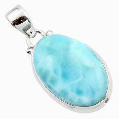 16.07cts natural blue larimar 925 sterling silver pendant jewelry r43665