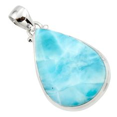 17.22cts natural blue larimar 925 sterling silver pendant jewelry r43672