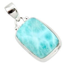 14.65cts natural blue larimar 925 sterling silver pendant jewelry r43673