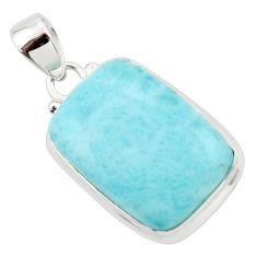 16.85cts natural blue larimar 925 sterling silver pendant jewelry r43674