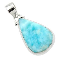 13.73cts natural blue larimar 925 sterling silver pendant jewelry r43683