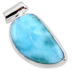 13.15cts natural blue larimar 925 sterling silver pendant jewelry r50310