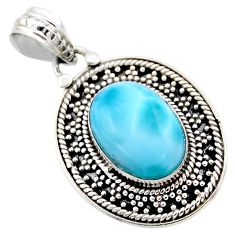 6.35cts natural blue larimar 925 sterling silver pendant jewelry r53167